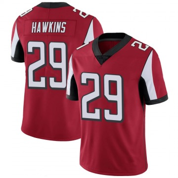 Youth Nike Atlanta Falcons Josh Hawkins Red 100th Vapor Jersey - Limited