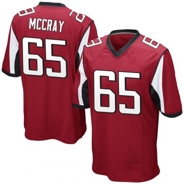 Youth Nike Atlanta Falcons Justin McCray Red Team Color Jersey - Game