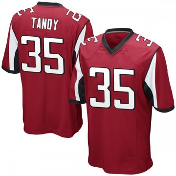Youth Nike Atlanta Falcons Keith Tandy Red Team Color Jersey - Game