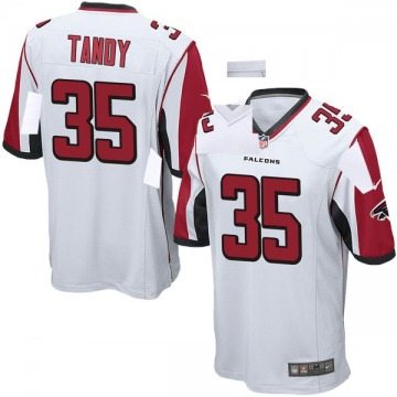 Youth Nike Atlanta Falcons Keith Tandy White Jersey - Game