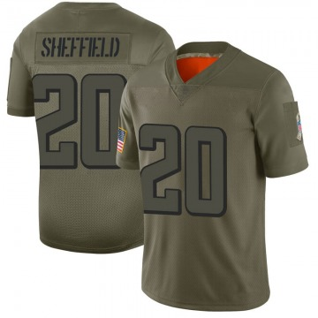 Youth Nike Atlanta Falcons Kendall Sheffield Camo 2019 Salute to Service Jersey - Limited