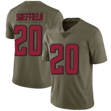 Youth Nike Atlanta Falcons Kendall Sheffield Green 2017 Salute to Service Jersey - Limited