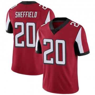 Youth Nike Atlanta Falcons Kendall Sheffield Red 100th Vapor Jersey - Limited