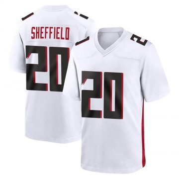 Youth Nike Atlanta Falcons Kendall Sheffield White Jersey - Game