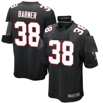 Youth Nike Atlanta Falcons Kenjon Barner Black Alternate Jersey - Game