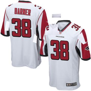 Youth Nike Atlanta Falcons Kenjon Barner White Jersey - Game