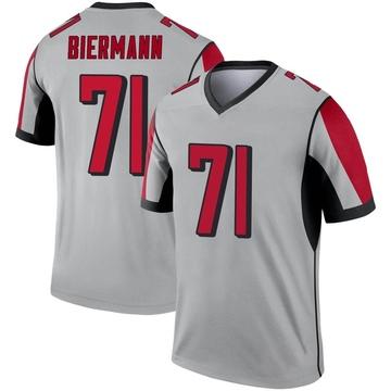 Youth Nike Atlanta Falcons Kroy Biermann Inverted Silver Jersey - Legend