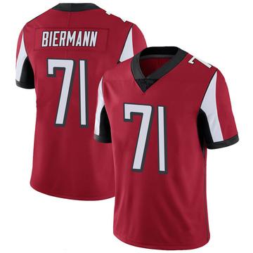 Youth Nike Atlanta Falcons Kroy Biermann Red 100th Vapor Jersey - Limited