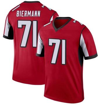Youth Nike Atlanta Falcons Kroy Biermann Red Jersey - Legend