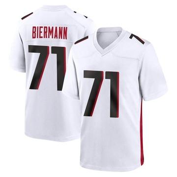 Youth Nike Atlanta Falcons Kroy Biermann White Jersey - Game