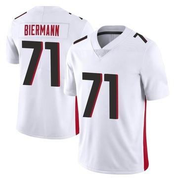 Youth Nike Atlanta Falcons Kroy Biermann White Vapor Untouchable Jersey - Limited