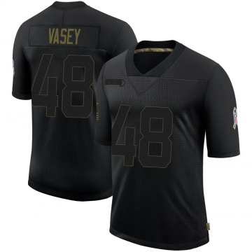 Youth Nike Atlanta Falcons Kyle Vasey Black 2020 Salute To Service Jersey - Limited
