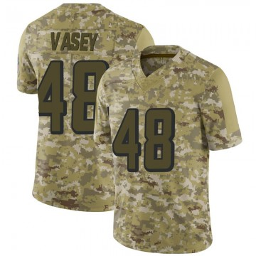 Youth Nike Atlanta Falcons Kyle Vasey Camo 2018 Salute to Service Jersey - Limited