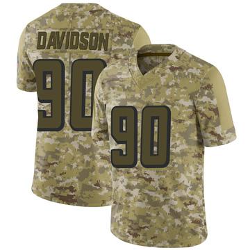 Youth Nike Atlanta Falcons Marlon Davidson Camo 2018 Salute to Service Jersey - Limited