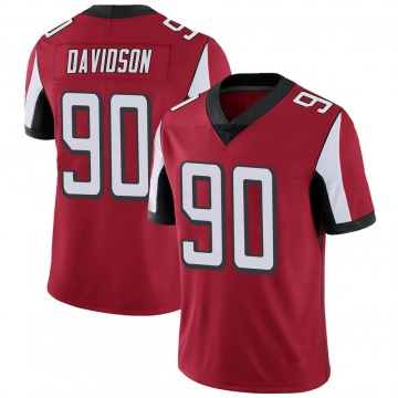 Youth Nike Atlanta Falcons Marlon Davidson Red Team Color Vapor Untouchable Jersey - Limited