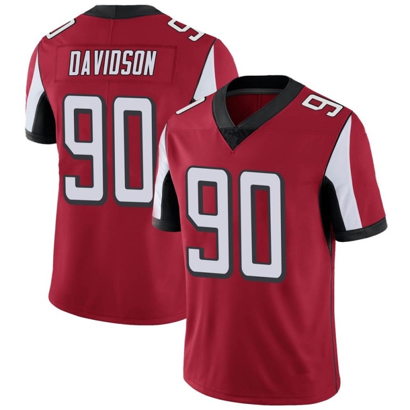 Youth Nike Atlanta Falcons Marlon Davidson Red Team Color Vapor Untouchable Jersey - Limited
