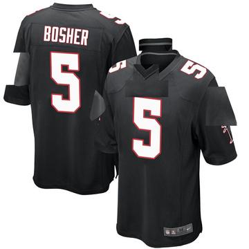 Youth Nike Atlanta Falcons Matt Bosher Black Alternate Jersey - Game