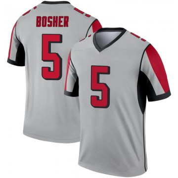 Youth Nike Atlanta Falcons Matt Bosher Inverted Silver Jersey - Legend