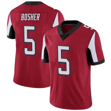 Youth Nike Atlanta Falcons Matt Bosher Red 100th Vapor Jersey - Limited