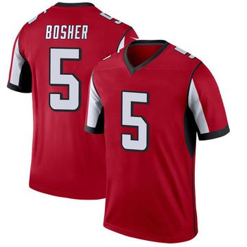 Youth Nike Atlanta Falcons Matt Bosher Red Jersey - Legend
