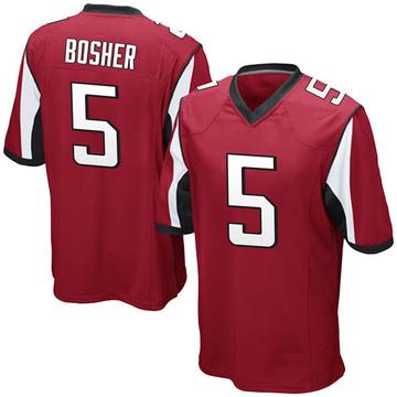 Youth Nike Atlanta Falcons Matt Bosher Red Team Color Jersey - Game