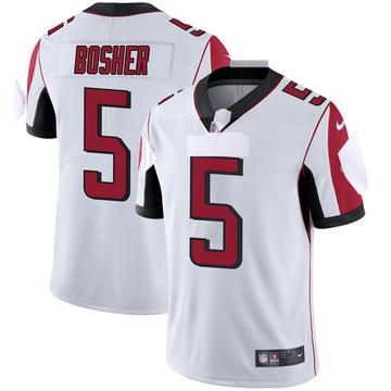 Youth Nike Atlanta Falcons Matt Bosher White Vapor Untouchable Jersey - Limited