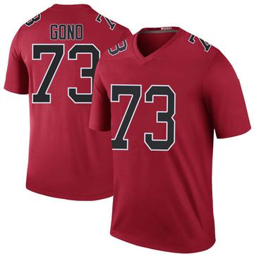 Youth Nike Atlanta Falcons Matt Gono Red Color Rush Jersey - Legend