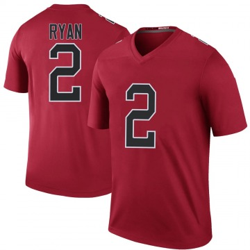 Youth Nike Atlanta Falcons Matt Ryan Red Color Rush Jersey - Legend