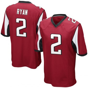 Youth Nike Atlanta Falcons Matt Ryan Red Team Color Jersey - Game
