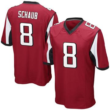 Youth Nike Atlanta Falcons Matt Schaub Red Team Color Jersey - Game