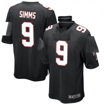 Youth Nike Atlanta Falcons Matt Simms Black Alternate Jersey - Game