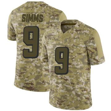 Youth Nike Atlanta Falcons Matt Simms Camo 2018 Salute to Service Jersey - Limited