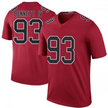 Youth Nike Atlanta Falcons Michael Bennett IV Red Color Rush Jersey - Legend
