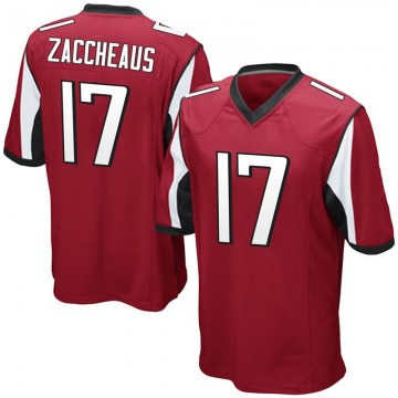 Youth Nike Atlanta Falcons Olamide Zaccheaus Red Team Color Jersey - Game