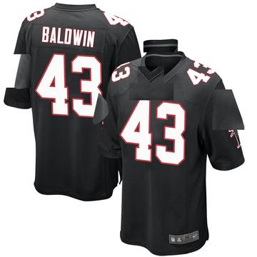Youth Nike Atlanta Falcons Parker Baldwin Black Alternate Jersey - Game