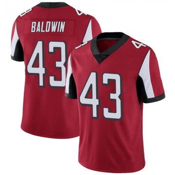 Youth Nike Atlanta Falcons Parker Baldwin Red 100th Vapor Jersey - Limited