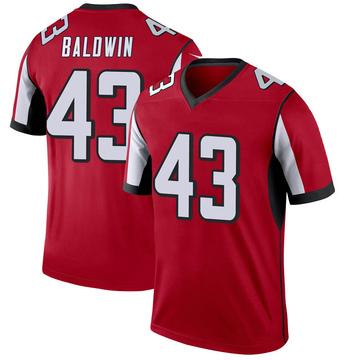 Youth Nike Atlanta Falcons Parker Baldwin Red Jersey - Legend