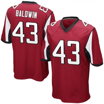 Youth Nike Atlanta Falcons Parker Baldwin Red Team Color Jersey - Game