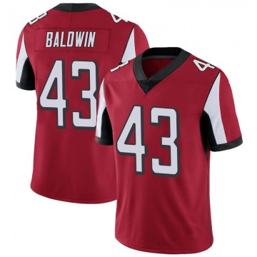 Youth Nike Atlanta Falcons Parker Baldwin Red Team Color Vapor Untouchable Jersey - Limited
