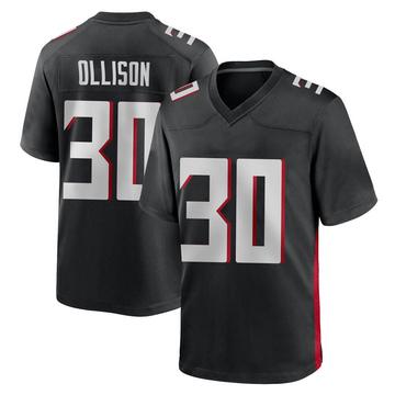 Youth Nike Atlanta Falcons Qadree Ollison Black Alternate Jersey - Game