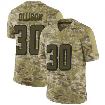 Youth Nike Atlanta Falcons Qadree Ollison Camo 2018 Salute to Service Jersey - Limited