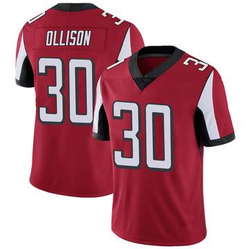 Youth Nike Atlanta Falcons Qadree Ollison Red 100th Vapor Jersey - Limited