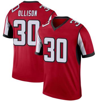 Youth Nike Atlanta Falcons Qadree Ollison Red Jersey - Legend