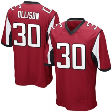 Youth Nike Atlanta Falcons Qadree Ollison Red Team Color Jersey - Game
