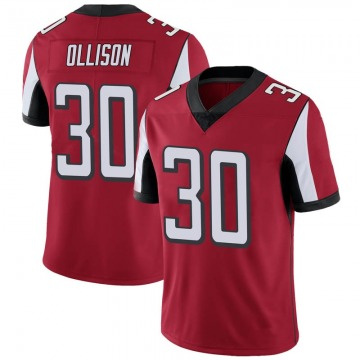 Youth Nike Atlanta Falcons Qadree Ollison Red Team Color Vapor Untouchable Jersey - Limited