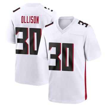 Youth Nike Atlanta Falcons Qadree Ollison White Jersey - Game