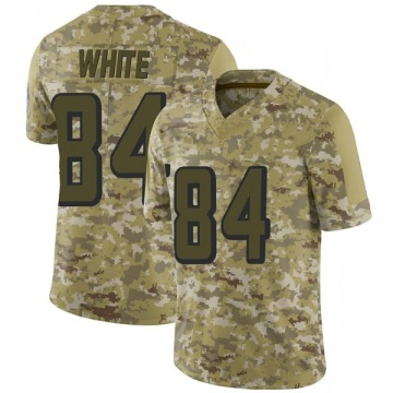 Youth Nike Atlanta Falcons Roddy White White Camo 2018 Salute to Service Jersey - Limited