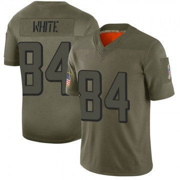 Youth Nike Atlanta Falcons Roddy White White Camo 2019 Salute to Service Jersey - Limited