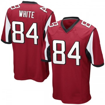 Youth Nike Atlanta Falcons Roddy White White Red Team Color Jersey - Game