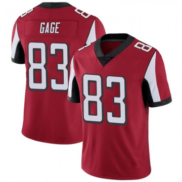 Youth Nike Atlanta Falcons Russell Gage Red 100th Vapor Jersey - Limited